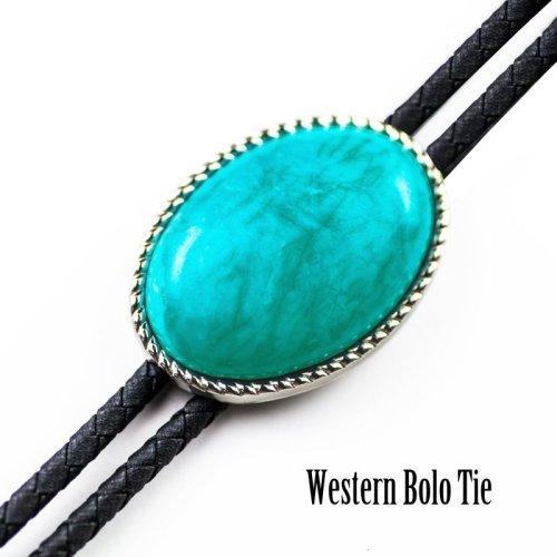 画像クリックで大きく確認できます Click↓1: ウエスタン ボロタイ ロープエッジ ターコイズ/Western Bolo Tie