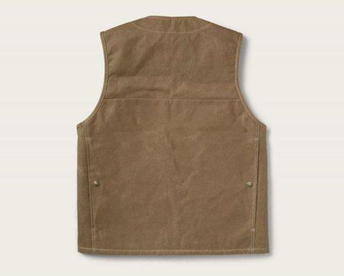 画像クリックで大きく確認できます Click↓3: フィルソン マッキーノウールラインド ティンクロス クルーザー ベスト(ダークタン)XS/Filson Lined Cruiser Vest(Dark Tan)