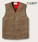 フィルソン マッキーノウールラインド ティンクロス クルーザー ベスト(ダークタン)XS/Filson Lined Cruiser Vest(Dark Tan)
