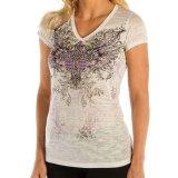 リバティーウエア パープルラインストーン 半袖Tシャツ(ホワイト)/Liberty Wear Short Sleeve T-shirt(Women's)