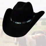 ブルハイド カウボーイハット シークレットメッセージ(ブラック)/Bullhide Cowboy Hat Secret Message(Black)