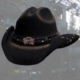 ブルハイド カウボーイハット(南軍旗・星条旗)/Bullhide Western Wool Hat(Southern Rizin'/Black)