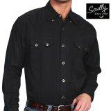 スカリー ウエスタン シャツ(長袖/ブラック)/Scully Long Sleeve Western Shirt Black(Men's)
