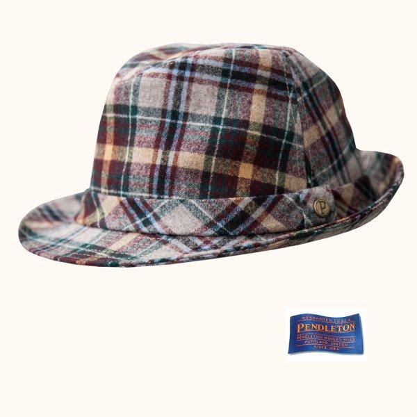 画像1: ペンドルトン バージン ウール ハット(ステート オブ オレゴン タータン)/Pendleton Wool Hat(State Of Oregon Tartan)