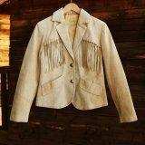 スカリー レディース フリンジ レザー ジャケット(オールド ラスト)/Scully Fringe Leather Jacket(Women)