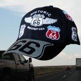 ルート66 8州 刺繍 ワッペン キャップ(ブラック)/Route 66 Cap(Black)