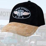 ルート66 メインストリート 刺繍 キャップ(ブラック)/Route 66 Cap(Black)