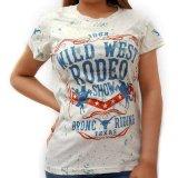 レディース ウエスタン 半袖Tシャツ(ワイルドウエストロデオ)/Wild West Short Sleeve T-shirt(Women's)