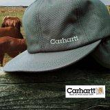 カーハート ロゴ イヤーフラップ キャップ(グレー)/Carhartt Cap(Logo/Gray)