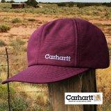 カーハート ロゴ イヤーフラップ キャップ(ワイン)/Carhartt Cap(Logo/Wine)