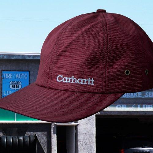 画像クリックで大きく確認できます Click↓2: カーハート ロゴ キャップ(ワイン)/Carhartt Logo Cap(Wine)