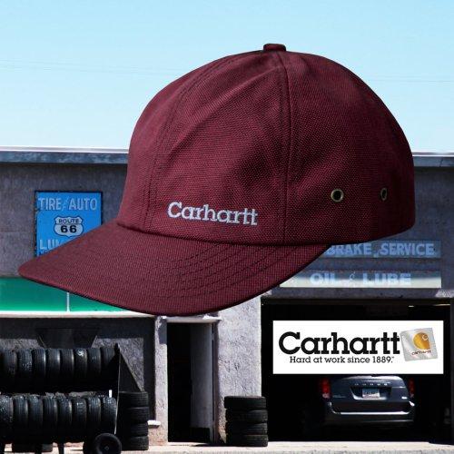 画像クリックで大きく確認できます Click↓1: カーハート ロゴ キャップ(ワイン)/Carhartt Logo Cap(Wine)