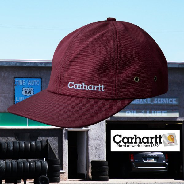 画像1: カーハート ロゴ キャップ(ワイン)/Carhartt Logo Cap(Wine)