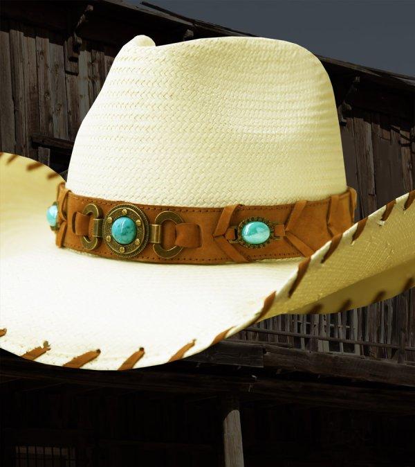 画像3: ブルハイド ウエスタン ストローハット ベストオブザウエスト(ナチュラル・ターコイズ)/Bullhide Western Straw Hat Best of the West(Natural)