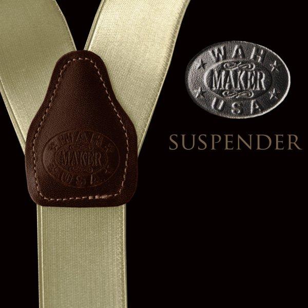 画像1: ワーメーカー サスペンダー(カーキ)/Wah Maker Suspenders(Khaki)