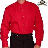 ワーメーカー バンドカラー インセットビブ オールドウエストシャツ(レッド)/Wah Maker Band Collar Inset Bib Old West Shirt(Red)