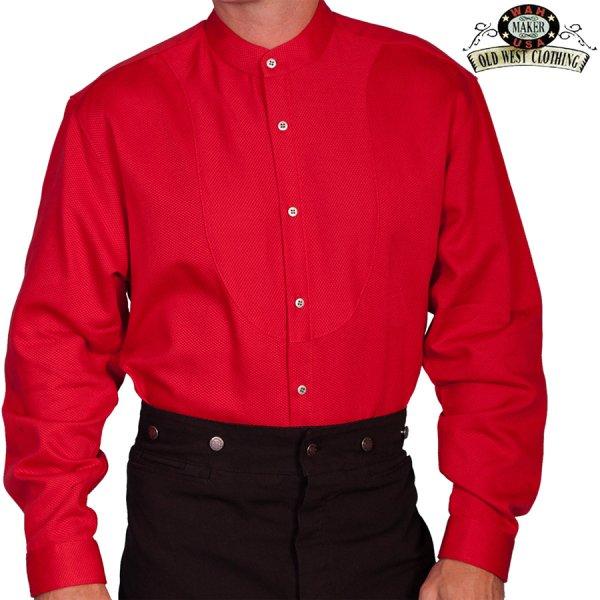 画像3: ワーメーカー バンドカラー インセットビブ オールドウエストシャツ(ブラック)/Wah Maker Band Collar Inset Bib Old West Shirt(Black)