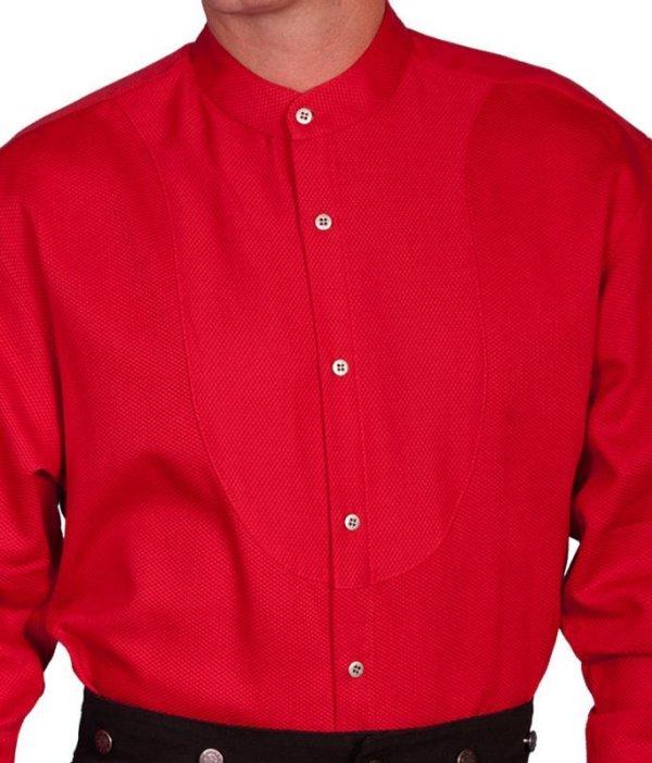 画像4: ワーメーカー バンドカラー インセットビブ オールドウエストシャツ(ブラック)/Wah Maker Band Collar Inset Bib Old West Shirt(Black)