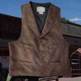 スカリー ソリッド ベスト(ブラウン)/Scully Solid Vest(Chocolate)