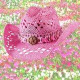 ブルハイド ウエスタン ストローハット ノーティガール(スター・ピンク)/Bullhide Western Straw Hat Naughty Girl(Pink)