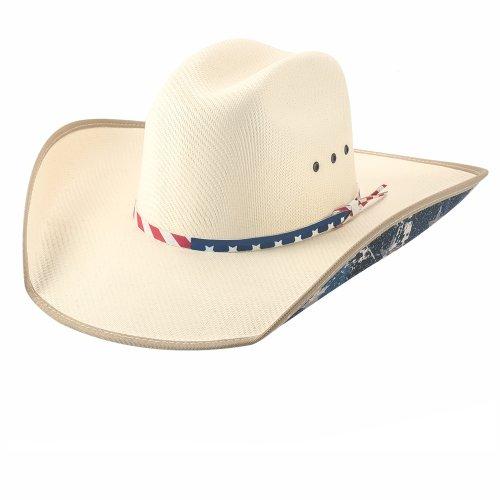 画像クリックで大きく確認できます Click↓1: ブルハイド ウエスタン ストローハット ウォレス(オフホワイト)/Bullhide Western Straw Hat Wallace(Off White)