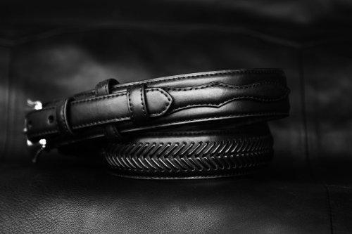 画像クリックで大きく確認できます Click↓2: ノコナ レンジャー ベルト(アローレース・ブラック)/Nocona Arrow Lace Ranger Belt(Black)