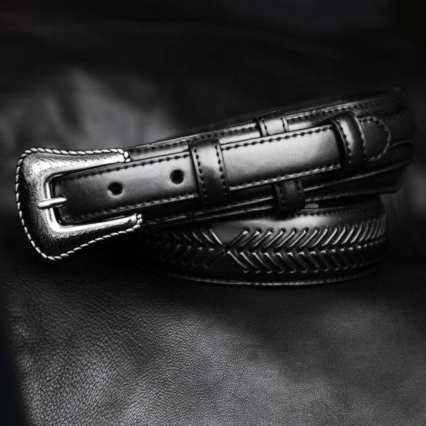 画像1: ノコナ レンジャー ベルト(アローレース・ブラック)/Nocona Arrow Lace Ranger Belt(Black)