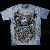 アメリカンイーグル&星条旗 ARMED FORCES 半袖Tシャツ(ライトブルー)/American Eagle/U.S.A Shortsleeve T-shirt