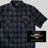 ハーレーダビッドソン 半袖シャツ(ブラック)/Harley Davidson Shortsleeve Shirt(Black)