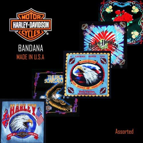 画像クリックで大きく確認できます Click↓1: ハーレーダビッドソン バンダナ(5枚アソート)/Harley Davidson Bandanas