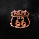 ルート66 ピンバッジ オレンジ・ブラック/Pin Route 66