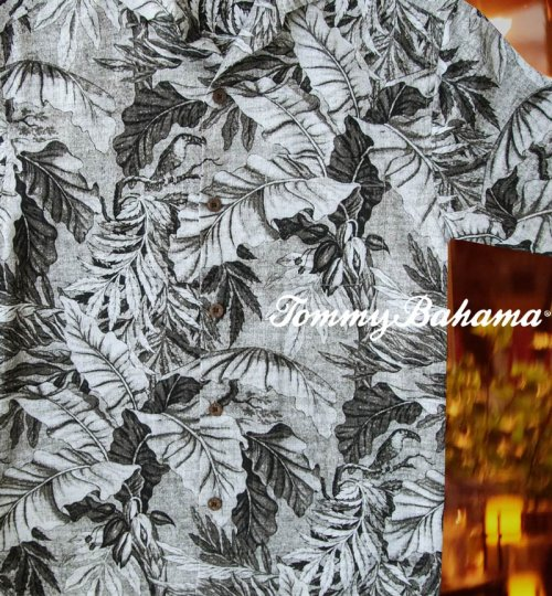画像クリックで大きく確認できます Click↓2: トミーバハマ シルク ハワイアン シャツ・アロハシャツ(半袖・グレイ・ブラック)/Tommy Bahama Short Sleeve Hawaiian Shirt(Grey/Black)