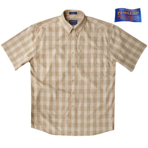 画像クリックで大きく確認できます Click↓1: ペンドルトン 半袖 シャツ(タン/ブルー)/Pendleton Plaid Shortsleeve Shirt(Tan)