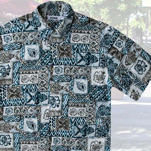 画像クリックで大きく確認できます Click↓2: アートハウス 半袖 フィッシュ プリントシャツ/Arthouse Fish Print Shortsleeve Shirt