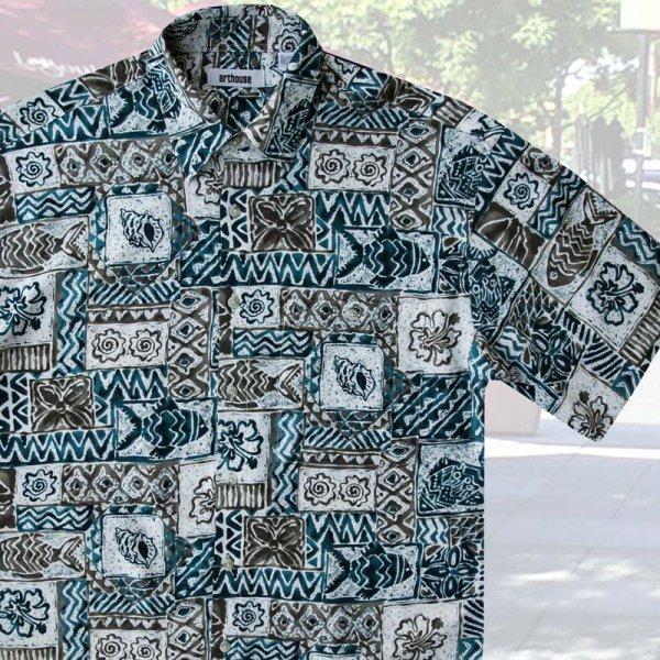 画像1: アートハウス 半袖 フィッシュ プリントシャツ/Arthouse Fish Print Shortsleeve Shirt