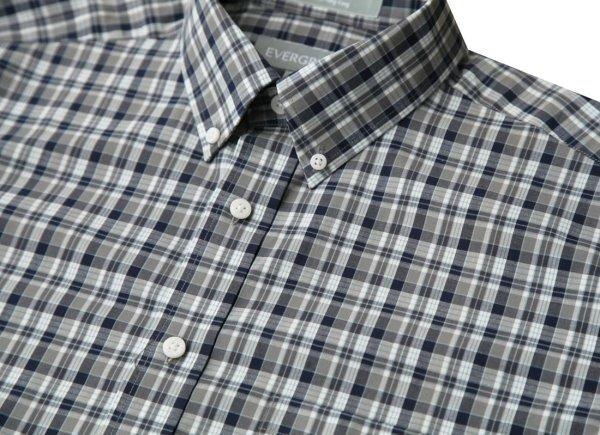 画像3: エバグリーン 半袖 シャツ(ブルー・グレー)/Evergreen Plaid Shortsleeve Shirt