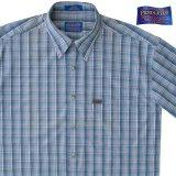 ペンドルトン 半袖 シャツ(ブループラッド)/Pendleton Plaid Shortsleeve Shirt(Blue)