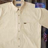 ペンドルトン 半袖 シャツ(タン)/Pendleton Plain Shortsleeve Shirt(Tan)
