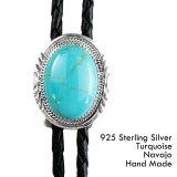 ターコイズ&シルバー ボロタイ ネイティブアメリカン ナバホ族 ハンドメイド/Navajo Turquoise&Sterling Silver Bolo Tie