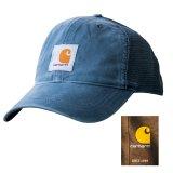 カーハート サンドストーン ロゴ キャップ(デニム)/Carhartt Sandstone Trucker Cap(Denim)
