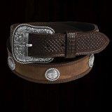 ウエスタン レザー コンチョ ベルト(ブラウン)34/Western Leather Belt(Brown)