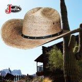ジャスティン パームストロー カウボーイハット(ナチュラル)/Justin Western Straw Hat