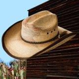 PBR プロフェッショナル ブルライダース ストロー カウボーイ ハット(ナチュラル・ブラウン)ラージサイズ61cm〜63cm/PBR Cowboy Hat(Natural/Brown)