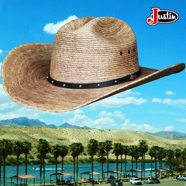 画像3: ジャスティン パームストロー カウボーイハット(ナチュラル)/Justin Western Straw Hat