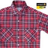 カーハート 半袖シャツ(クリムゾン・ブラック)S/Carhartt Plaid Shortsleeve Shirt(Crimson/Black)