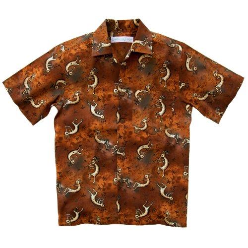 画像クリックで大きく確認できます Click↓3: カリフォルニア トロピック USA キャンプシャツ(ココペリ)/California Tropic Camp Shirt