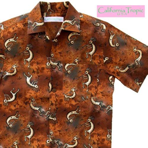 画像クリックで大きく確認できます Click↓1: カリフォルニア トロピック USA キャンプシャツ(ココペリ)/California Tropic Camp Shirt