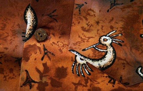 画像クリックで大きく確認できます Click↓2: カリフォルニア トロピック USA キャンプシャツ(ココペリ)/California Tropic Camp Shirt
