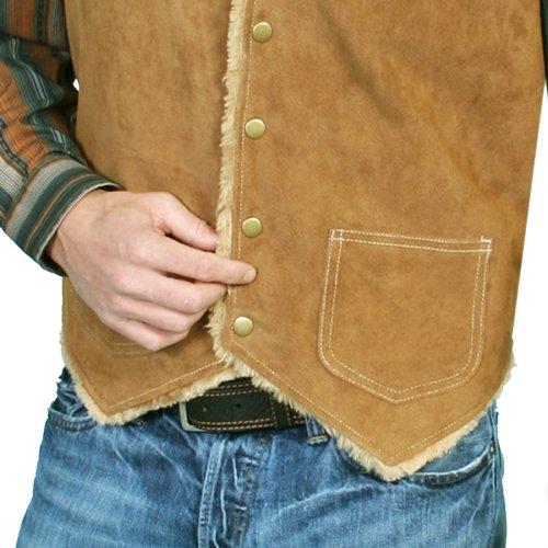 画像クリックで大きく確認できます Click↓2: スカリー スナップフロント ボアスエード ベスト(タバコ)S/Scully Boar Suede Leather Vest(Tobacco)