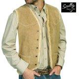 スカリー スナップフロント ボアスエード ベスト(タバコ)S/Scully Boar Suede Leather Vest(Tobacco)